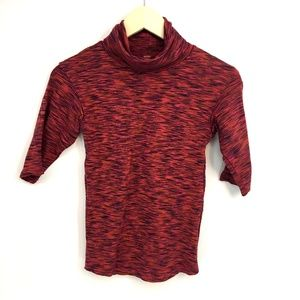 Free People Quarter Sleeve Wine Red Sweater